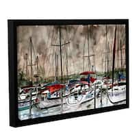ArtWall Derek Mccrea 'Sailboats' Gallery-wrapped Floater-framed Canvas