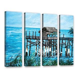 ArtWall Derek Mccrea 'Pier' 4 Piece Gallery-Wrapped Canvas Set