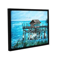ArtWall Derek Mccrea 'Pier' Gallery-wrapped Floater-framed Canvas