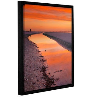 ArtWall Steve Ainsworth 'Captiva Sunset' Gallery-wrapped Floater-framed Canvas