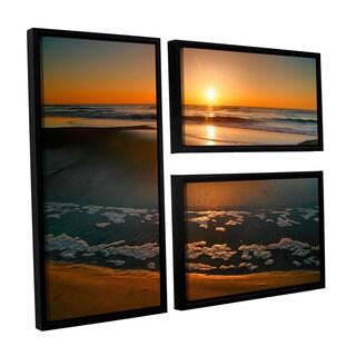 ArtWall Steve Ainsworth 'Morning Has Broken' 3 Piece Floater Framed Canvas Flag Set