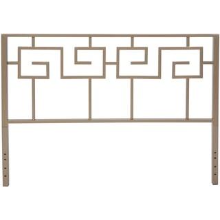 Motif Design Greek Key Metal Headboard (Gray)