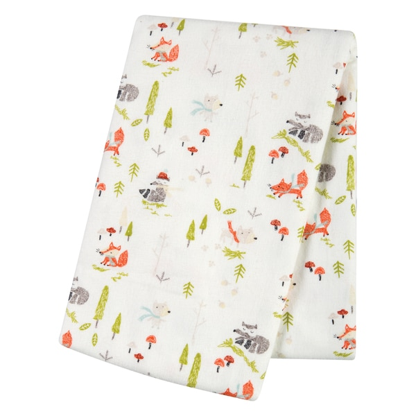 Trend Lab Winter Woods Deluxe Flannel Swaddle Blanket