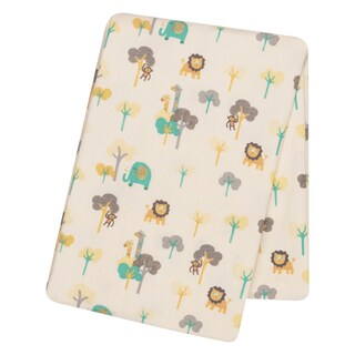 Trend Lab Lullaby Jungle Deluxe Flannel Swaddle Blanket