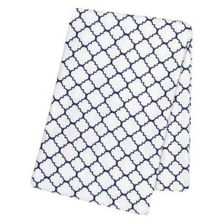 Trend Lab Navy Quatrefoil Deluxe Flannel Swaddle Blanket