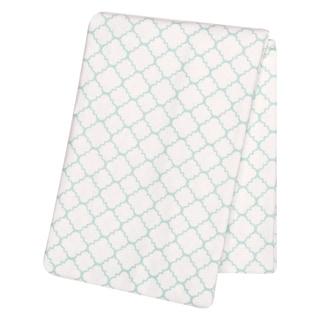 Trend Lab Mint Quatrefoil Deluxe Flannel Swaddle Blanket
