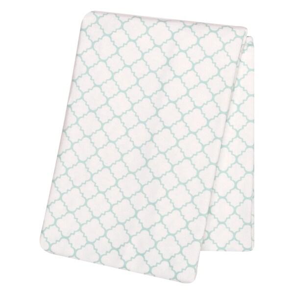 Shop Trend Lab Mint Quatrefoil Deluxe Flannel Swaddle