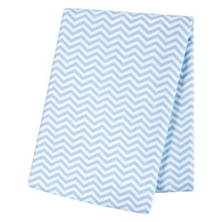 Trend Lab Blue Chevron Deluxe Flannel Swaddle Blanket