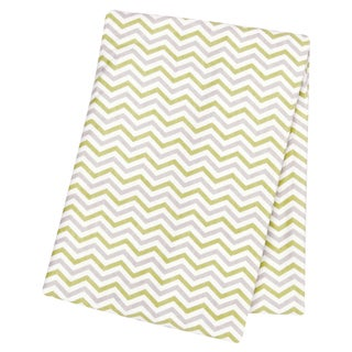 Trend Lab Sage and Grey Chevron Deluxe Flannel Swaddle Blanket