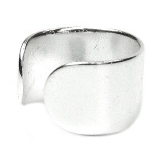 Queenberry Sterling Silver Round Clip-on Earring Cuff