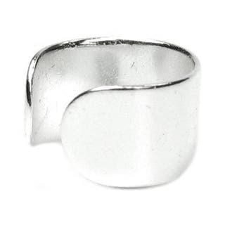 Queenberry Sterling Silver Round Clip-on Earring Cuff|https://ak1.ostkcdn.com/images/products/10379961/P17485365.jpg?impolicy=medium