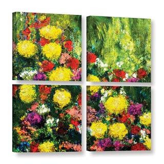 ArtWall Allan Friedlander 'Savannah' 4 Piece Gallery-wrapped Canvas Square Set