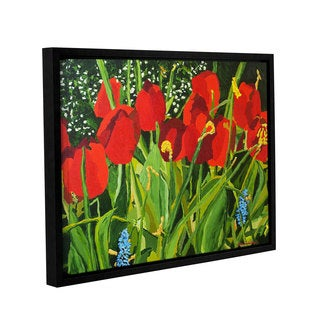 ArtWall Allan Friedlander 'Red, White, And Blue' Gallery-wrapped Floater-framed Canvas
