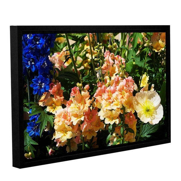 ArtWall Allan Friedlander 'Pink Poppy' Gallery-wrapped Floater-framed Canvas
