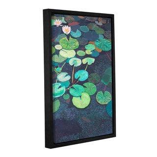 ArtWall Allan Friedlander 'Pink Lilies' Gallery-wrapped Floater-framed Canvas