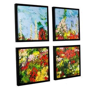 ArtWall Allan Friedlander 'Overgrown' 4 Piece Floater Framed Canvas Square Set