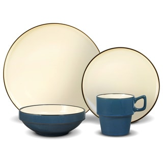 Gourmet Basics By Mikasa Alpine Blue 16-piece Dinnerware Set