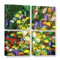 ArtWall Allan Friedlander 'New Orleans' 4 Piece Gallery-wrapped Canvas Square Set