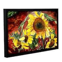 ArtWall Derek Mccrea 'Sunflowers' Gallery-wrapped Floater-framed Canvas