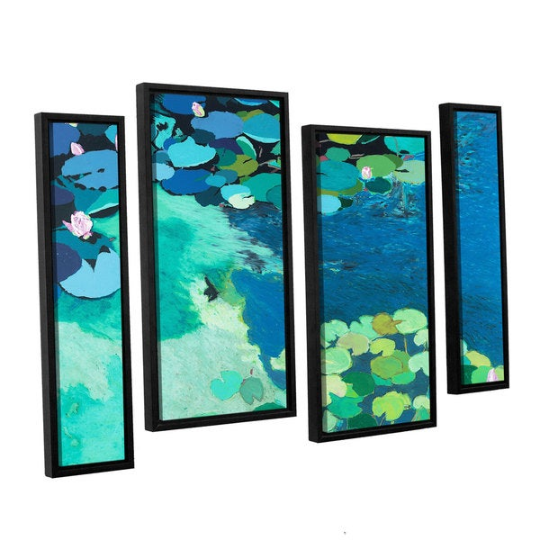 ArtWall Allan Friedlander 'Moonlit Shadows' 4 Piece Floater Framed Canvas Staggered Set