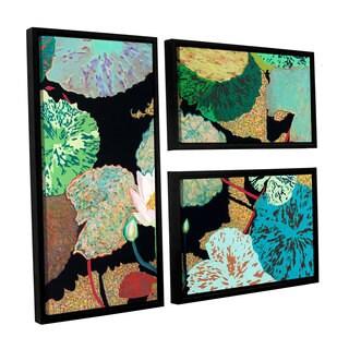 ArtWall Allan Friedlander 'Hot And Humid' 3 Piece Floater Framed Canvas Flag Set