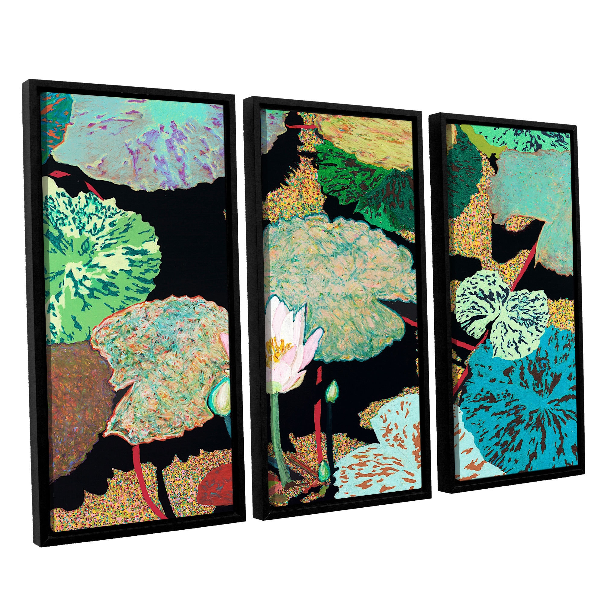 Artwall Allan Friedlander Hot And Humid 3 Piece Floater Framed Canvas Set Overstock 10380023