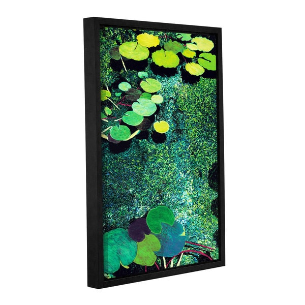 ArtWall Allan Friedlander 'Green Shimmering' Gallery-wrapped Floater-framed Canvas