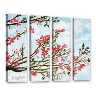 ArtWall Derek Mccrea 'Tree Flowers' 4 Piece Gallery-Wrapped Canvas Set