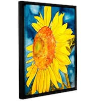 ArtWall Derek Mccrea 'Sunflower' Gallery-wrapped Floater-framed Canvas