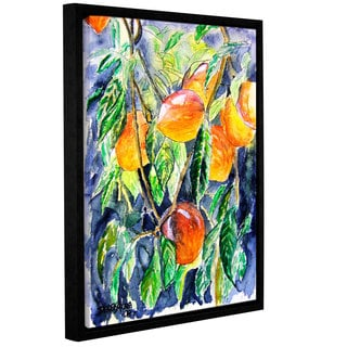 ArtWall Derek Mccrea 'Peaches' Gallery-wrapped Floater-framed Canvas