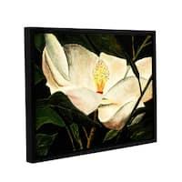 ArtWall Derek Mccrea 'Magnolia Flower 2' Gallery-wrapped Floater-framed Canvas