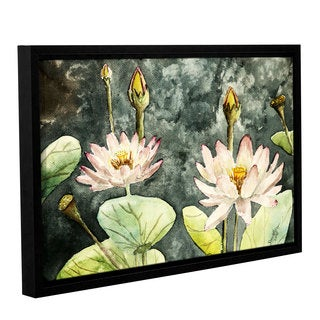 ArtWall Derek Mccrea 'Lotus' Gallery-wrapped Floater-framed Canvas