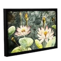 ArtWall Derek Mccrea 'Lotus' Gallery-wrapped Floater-framed Canvas