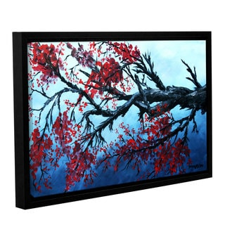 ArtWall Derek Mccrea 'Japanese Cherry Blossom' Gallery-wrapped Floater-framed Canvas