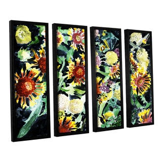 ArtWall Derek Mccrea 'Indian Blanket Flowers' 4 Piece Floater Framed Canvas Set