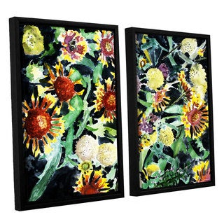 ArtWall Derek Mccrea 'Indian Blanket Flowers' 2 Piece Floater Framed Canvas Set