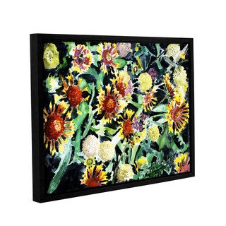 ArtWall Derek Mccrea 'Indian Blanket Flowers' Gallery-wrapped Floater-framed Canvas