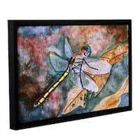 ArtWall Derek Mccrea 'Dragonfly' Gallery-wrapped Floater-framed Canvas