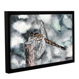 ArtWall Derek Mccrea 'Dragonfly 2' Gallery-wrapped Floater-framed Canvas