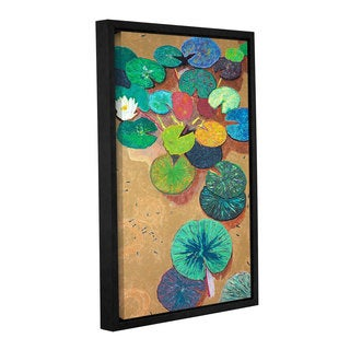 ArtWall Allan Friedlander 'White Lily' Gallery-wrapped Floater-framed Canvas