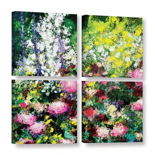 ArtWall Allan Friedlander 'Summertime' 4 Piece Gallery-wrapped Canvas Square Set