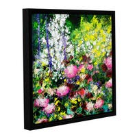 ArtWall Allan Friedlander 'Summertime' Gallery-wrapped Floater-framed Canvas - Multi