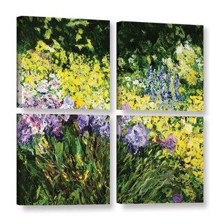 ArtWall Allan Friedlander 'Sunshine Blossoms' 4 Piece Gallery-wrapped Canvas Square Set