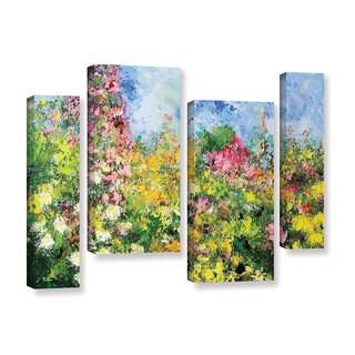 ArtWall Allan Friedlander 'Wild Sweetness' 4 Piece Gallery-wrapped Canvas Staggered Set