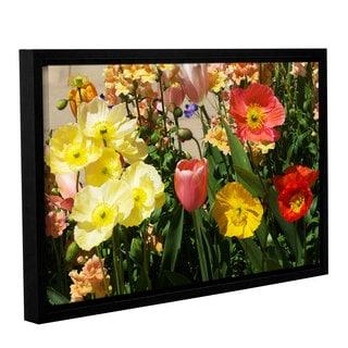 ArtWall Allan Friedlander 'Yellow Flowers' Gallery-wrapped Floater-framed Canvas