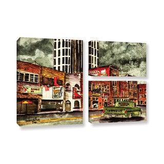ArtWall Derek Mccrea 'Nashville' 3 Piece Gallery-wrapped Canvas Flag Set