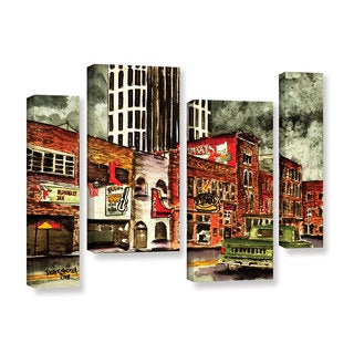 ArtWall Derek Mccrea 'Nashville' Four-piece Staggered Set Gallery-wrapped Canvas Art