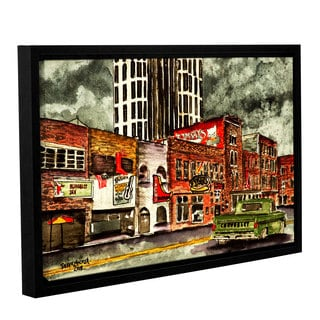 ArtWall Derek Mccrea 'Nashville' Gallery-wrapped Floater-framed Canvas