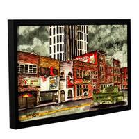 ArtWall Derek Mccrea 'Nashville' Gallery-wrapped Floater-framed Canvas