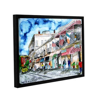 ArtWall Derek Mccrea 'Savannah River Street' Gallery-wrapped Floater-framed Canvas